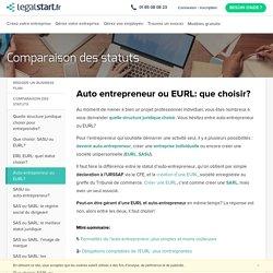Auto-entrepreneur ou EURL?