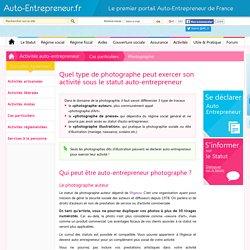 Auto-Entrepreneur et photographe
