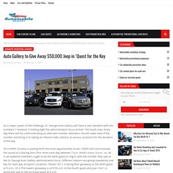 Auto Gallery to Give Away $50,000 Jeep in 'Quest for the Key