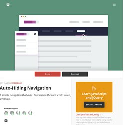 Auto-Hiding Navigation in CSS and jQuery