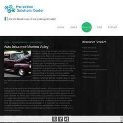 Auto Insurance in Moreno Valley CA