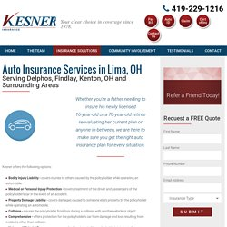 Auto Insurance Offered in the Lima and Delphos, OH, Area