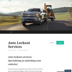 Auto Lockout Services in New York