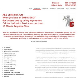 Car Locksmiths Services in Broward County, FL!! Call 954-417-6266