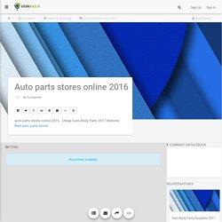 Auto parts stores online 2016