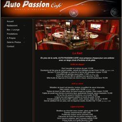 Auto Passion Café, Bar / Coktails / Restaurant