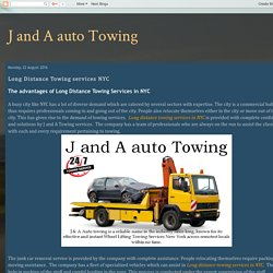 Long Distance Towing services NYC
