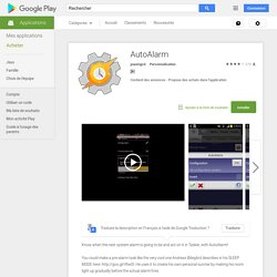 AutoAlarm – Applications Android sur Google Play