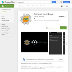 AutoApp for Arduino – Applications Android sur Google Play