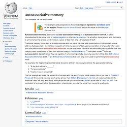 Autoassociative memory