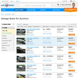 AutoBidMaster: Online Auctions featuring Salvage Boats for Sale