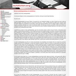 Roman autobiographique et autofiction - autofiction.org