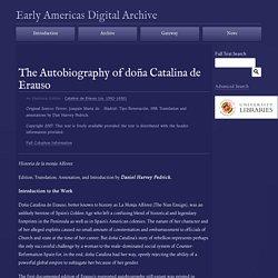 The Autobiography of doña Catalina de Erauso