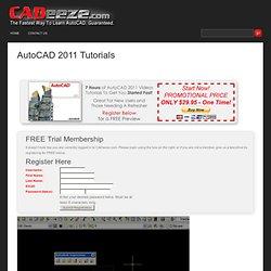 AutoCAD 2011 Tutorials