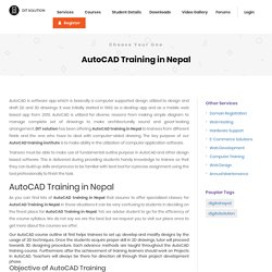 Finest AutoCAD Training in Nepal