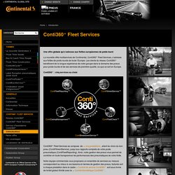 Pneus poids lourds et pneus d'autocar-Conti360° Fleet Services