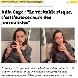 """Julia Cagé : """"Le véritable risque, c'est l'autocensure des journalistes"""" -"""
