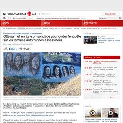 Ottawa met en ligne un sondage pour guider l'enquête sur les femmes autochtones assassinées