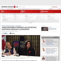 Justice demandée à Saskatoon pour les femmes autochtones disparues ou assassinées