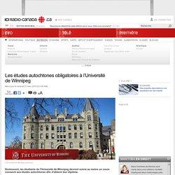 Les études autochtones obligatoires à l'Université de Winnipeg