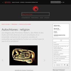 Autochtones : religion