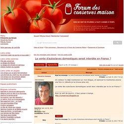 Consulter le sujet - La vente d'autoclaves domestiques serait interdite en France ?