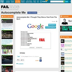 Autocomplete MeFAIL Blog: Epic Fail Funny Pictures and Funny Vid