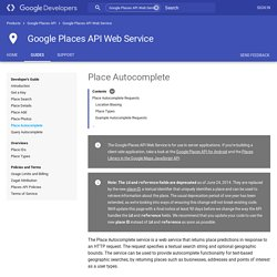 Google Places API Web Service