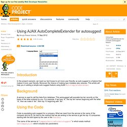 Using Ajax AutoCompleteExtender for autosuggest