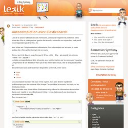 Developpement Symfony2 - Lexik Montpellier