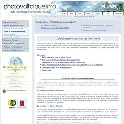 L'autoconsommation de l'éléctricité photovoltaïque par les producteurs
