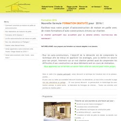 Formation autoconstructeurs pour l'autoconstruction de maison bois et isolation paille