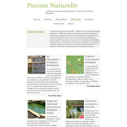 Piscines naturelles construction et architecture for Autoconstruction piscine naturelle