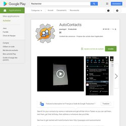 AutoContacts – Applications Android sur Google Play