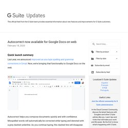 Autocorrect now available for Google Docs on web