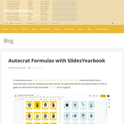 Autocrat Formulas with SlidesYearbook – SlidesYearbook