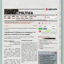 Autodefensas de Michoacán se reorganizan; el gobierno es traicionero, no nos cumplió