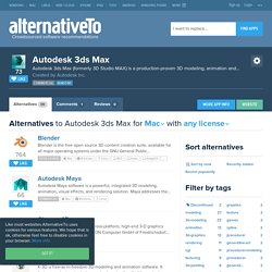 Autodesk 3ds Max Alternatives for Mac OS X