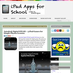 Autodesk Digital STEAM – 5 iPad Games for Simple Physics Lessons