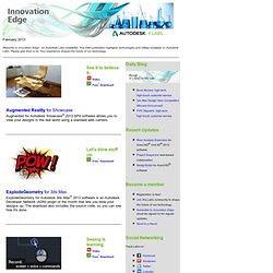 Autodesk Labs Innovation Edge Newsletter - February 2013