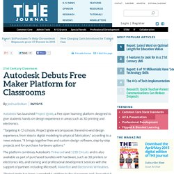 Autodesk Debuts Free Maker Platform for Classrooms