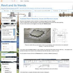Revit and its friends: Autodesk Revit: Revisions, Issues and Revision clouds