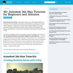 40+ Autodesk 3ds Max Tutorials for Beginners and Advance
