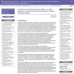 La théorie de l'autodétemination (TAD) : un autre regard sur le climat motivationnel (Sarrazin, Tessier, Trouilloud, 2006) - Bloc notes de Jean Heutte : sérendipité, phronèsis et ataraxie sont les trois mamelles qui nourrissent l'Épicurien de la connaissa