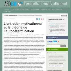 L'entretien motivationnel et la théorie de l'autodétermination