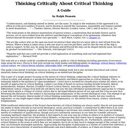 "Ralph Dumain: ""The Autodidact Project"": Study Guides: Thinking Critically About Critical Thinking"