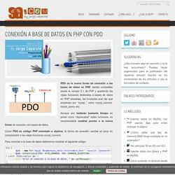 Conexión a base de datos en PHP con PDO