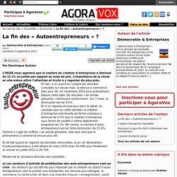 """La fin des """"Autoentrepreneurs"""" ?"""