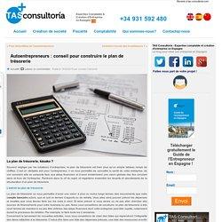 Autoentrepreneurs : conseil pour construire le plan de trésorerie - TAS Consultoria, Création d'Entreprise en Espagne