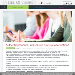 Les autoentrepreneurs disposent de droits à la formation